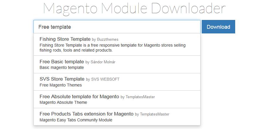 Magento module downloader