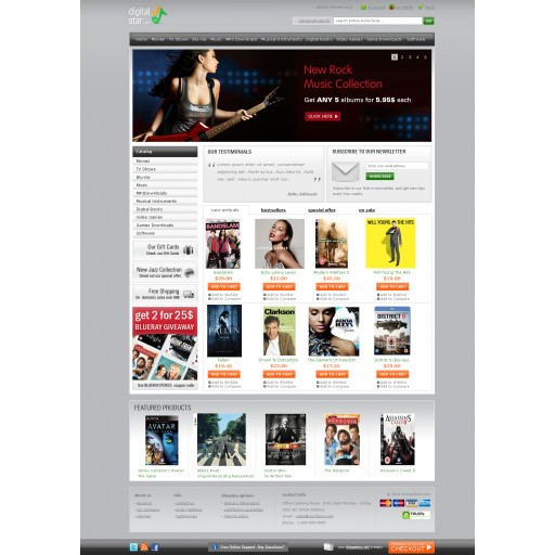 Digital Star Premium Theme  (available in 10 colors)