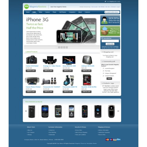 Magento Absolute template Navy