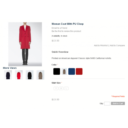 Easy Color Swatches for Magento