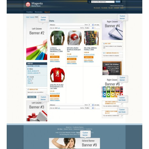 Magento Easy Banners frontend