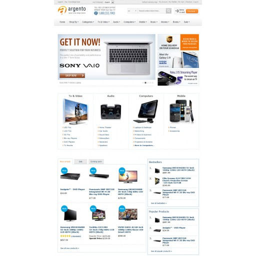 Magento banner slider with Nivo slider integration