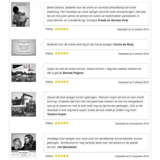 Magento testimonials listing