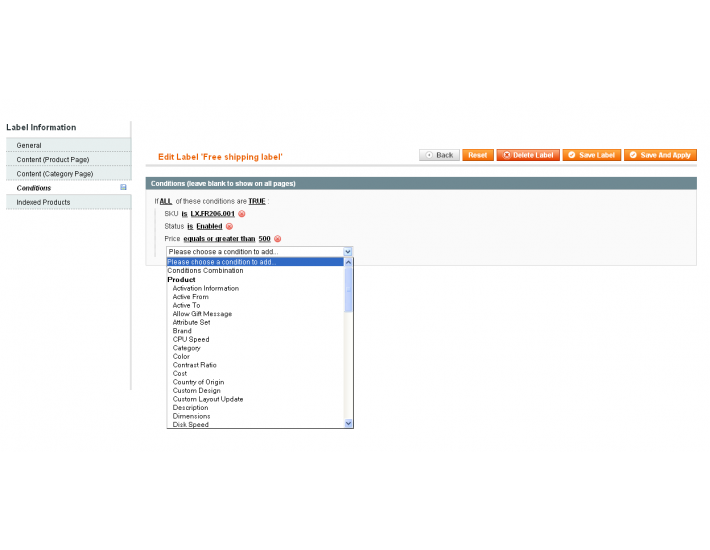Magento product labels made easy - Prolabels 2 7