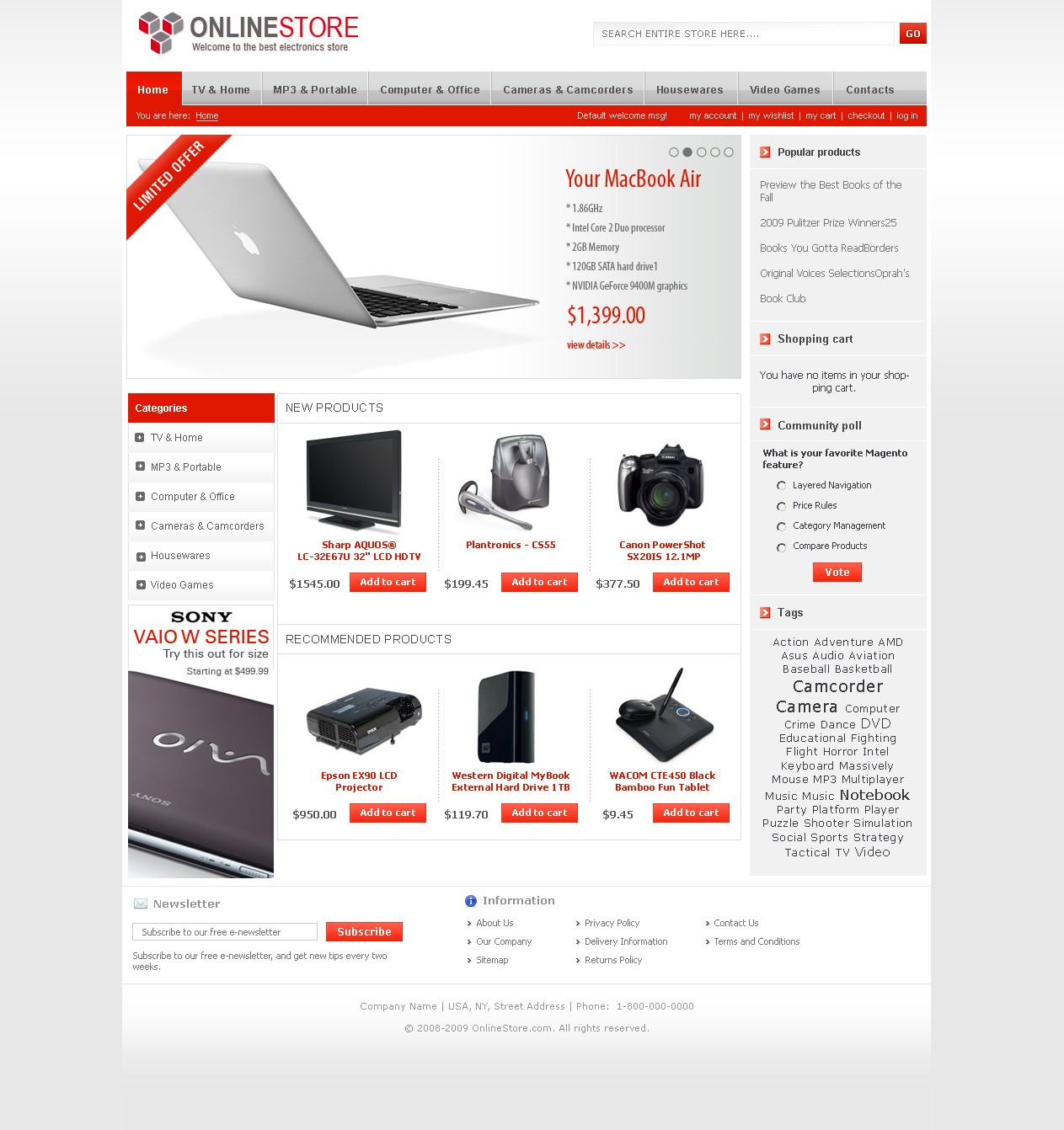 Corporate Universal Magento Theme — Templates Master