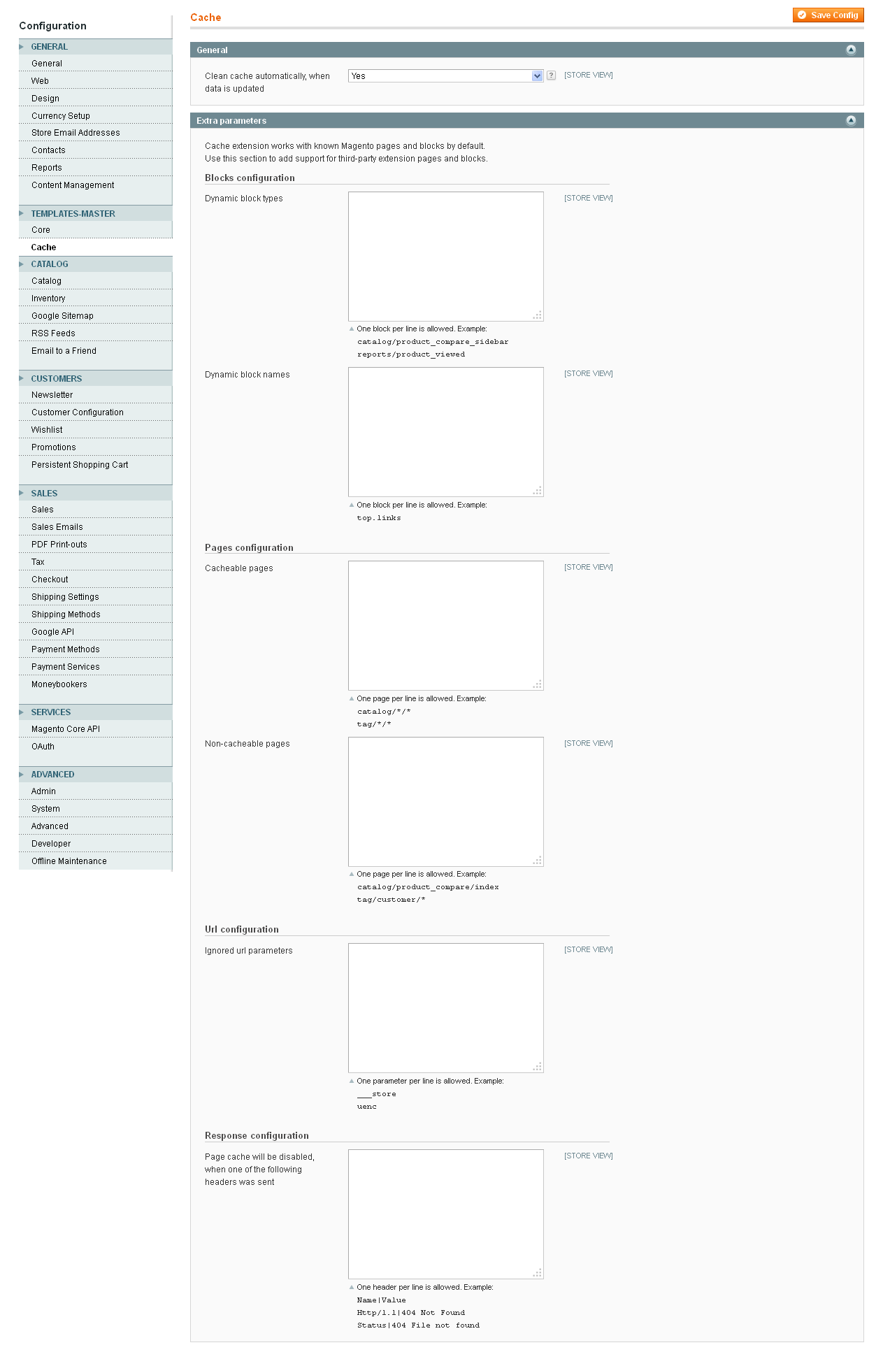 magento full page cache extension templates master