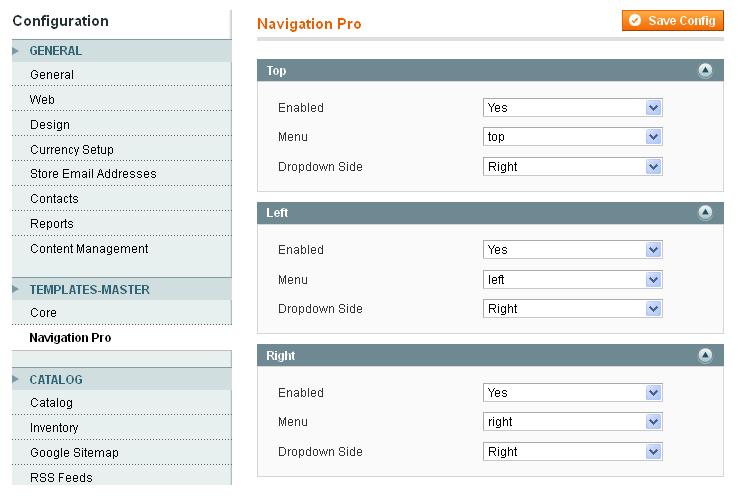 magento menu extension magento navigation module templates master