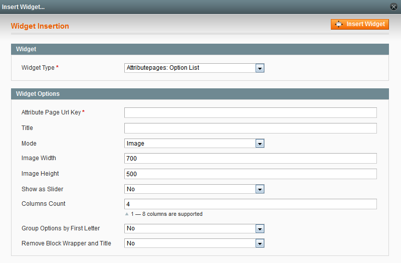 Magento Attributes and Brands pages extension user manual