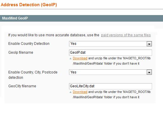Magento Geolocation support