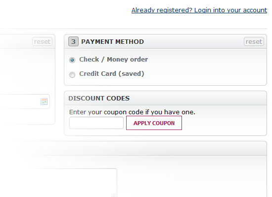 Magento one page step checkout extension with responsive design discount code block fandeluxe Images
