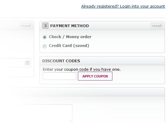 Discount code block
