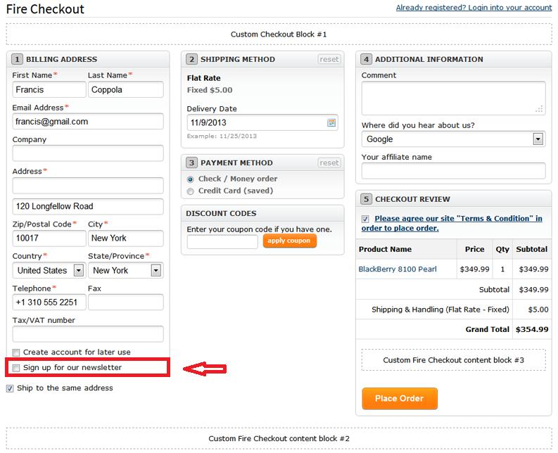 Firecheckout user manual Templates Master – Shipping Manual Template
