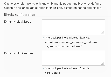 Allows to tags dynamic content blocks