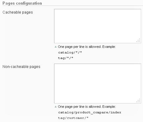Cache modules fully configurable via admin