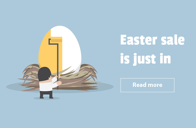Happy Easter from all of us. Catch discount codes till April, 14.