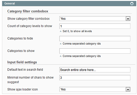 Magento search autocomplete and suggest input field